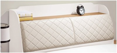 【DH】商品 貨號 VC305-4商品名稱《露西》精製白色五尺床箱(不含床底)主要地區免運費