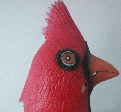 【NF239鳥頭套】雞頭面具 化妝舞會動物面具頭套 馬頭羊駝驢火鳥大公雞頭鴨子面具 萬聖節 哈林搖