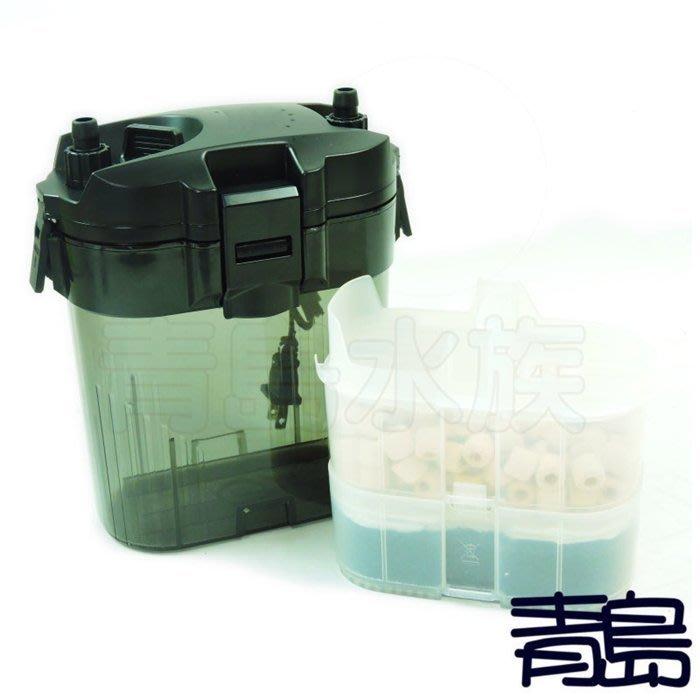 M。。。青島水族。。。多功能外置圓桶過濾器 shiruba銀箭 XB-303 SF-703
