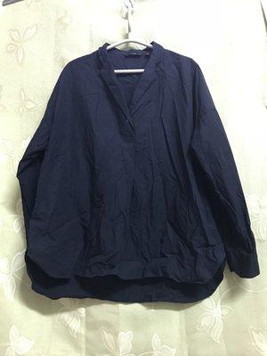 UNIQLO寬鬆落肩外罩襯衫oversize-B