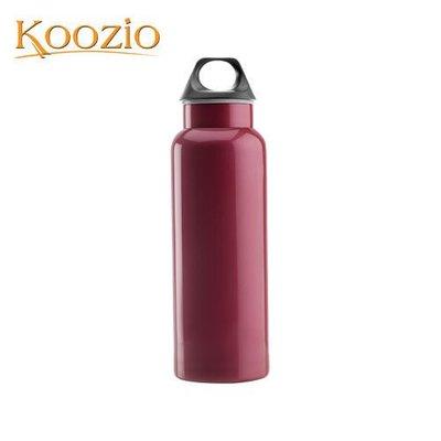 Koozio經典水瓶600ml (紫嫣紅) (不鏽鋼水瓶/水壺 /不銹鋼杯/ 隨手杯/ 環保杯) Koozio原廠專賣