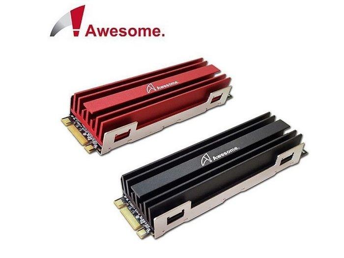 光華CUMA散熱精品*AWESOME AWD-MCS01 M.2 SSD NGFF 2280 散熱片 紅黑兩色可選~現貨