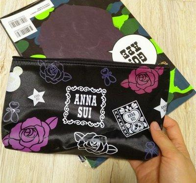 [瑞絲小舖]~日本專櫃福袋好禮ANNA SUI紫色薔薇大號化妝包 收納包 小物包 手機包