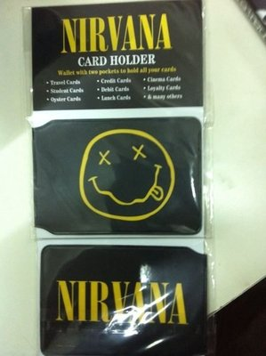 ##卡套 美國進口 card holder nirvana  / smile 全新