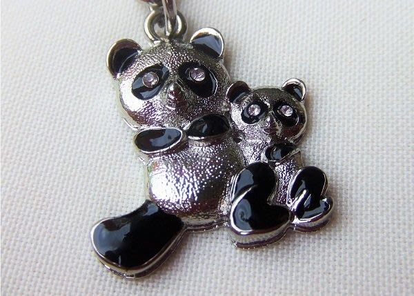 ☆創意小物店☆ 熊貓A-1 鑰匙扣/創意可愛金屬鑰匙圈 時尚造型個性飾品(扁圈或問號鉤  二選一)