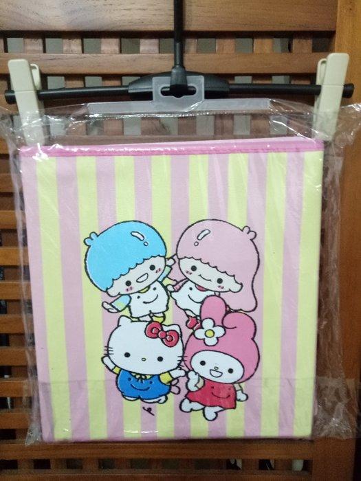 天使熊雜貨小舖~日本帶回三麗鷗可摺疊收納箱-小  全新現貨