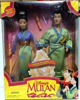 【Barbie 芭比娃娃收藏館】Disney 1997【Mulan & Shang 花木蘭李翔雙人組合】19019已絕版