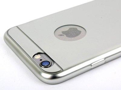 [GIFUTO] iPhone 6 iPhone6 /6S Plus  5.5吋 金屬質感電鍍保護套 TPU軟殼– 銀