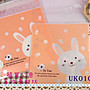 UK010【每組15個20元】中型微笑兔子款糖果餅...