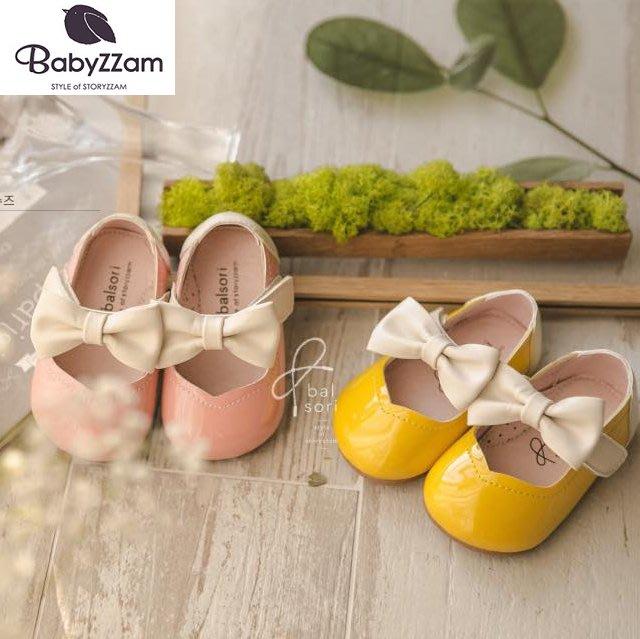 『※妳好,可愛※』妳好可愛韓國童鞋 BABYZZAM~正韓 甜美拚色蝴蝶結娃娃鞋 娃娃鞋 魔鬼氈娃娃鞋 花童鞋 女童鞋