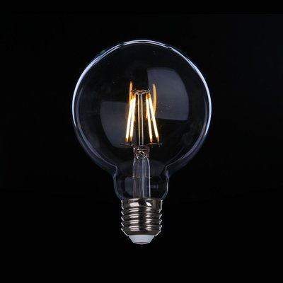 DL燈泡博士💡 G95愛迪生LED燈絲燈泡4W復古燈泡E27全電壓周光黃光暖白光桌燈壁燈吊燈奶白龍珠燈泡6w商業空間