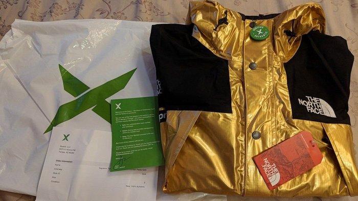[Size: S] 全新SUPREME TNF 衝鋒衣 外套 金色