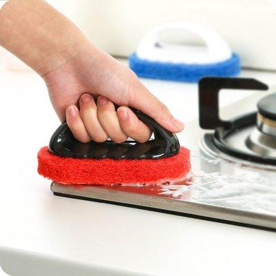 清潔刷洗鍋刷清洗廚房用刷長柄百潔洗碗刷不粘油海綿刷子刷鍋神器