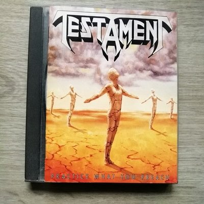 稀有【進口原版CD】Testament 聖約樂團經典專輯以身作則Practice What You Preach