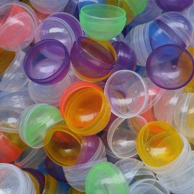 45X45mm按壓式扭蛋殼玩具公仔糖果盒收納盒包裝摸彩小禮物彩色隨機出貨抽獎婚禮小物遊戲抽獎球夾娃娃機摸彩球扭蛋球