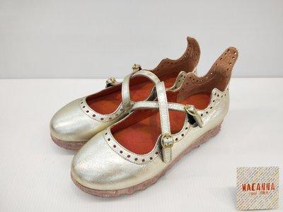 ║阿貴鞋麗屋║ Macanna 麥坎納專櫃   雅典娜系列2~金屬特殊羊皮+牛皮氣墊娃娃鞋4701~賠售