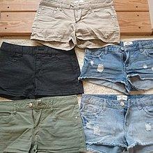 NET 五件 全新 短褲 /熱褲 休閒褲 牛仔短褲 刷色 刷破 海灘