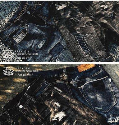 2016 現貨全尺寸 REPUTATION 破壞加工牛仔短褲  jordan 1 4 5 6 11 og SUPREME