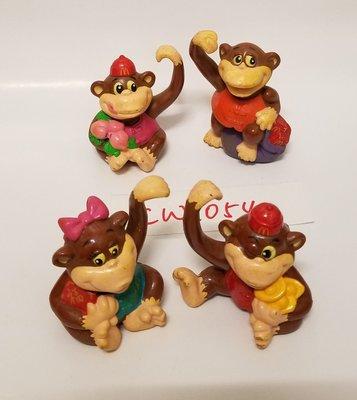 1992年 麥當勞 賀年猴子公仔一套4款