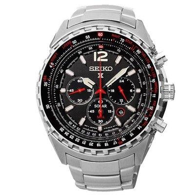 SEIKO Prospex 冒險野狼三眼計時運動時尚腕錶-黑x銀-V175-0CK0D(SSC261P1)