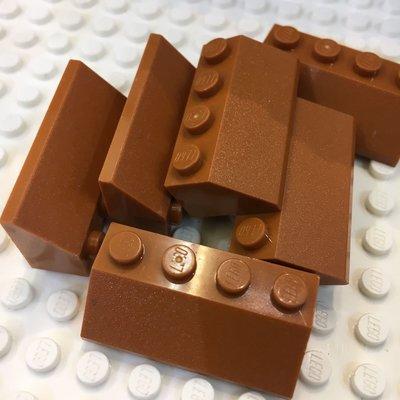 Lego MOC House 3037 Dark orange Slope 45 2 x 4 樂高積木 大屋必備橙啡色 屋頂斜磚 $1/pcs