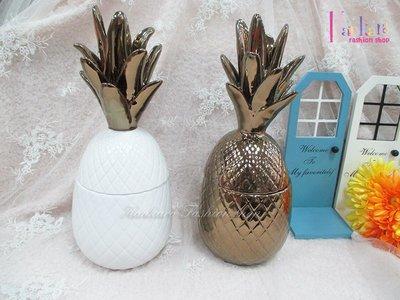 ☆[Hankaro]☆創意流行陶瓷鳳梨造型糖果罐(樣品出清)
