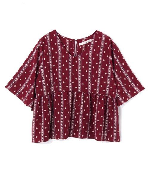 [日本購入] mysty woman民族風上衣(酒紅色) SM2/Crisp/MAJESTIC LEGON