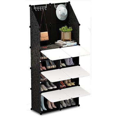 鞋櫃簡易組裝DIY多層鞋櫃收納櫃居家空間附門鞋櫃塑膠自組_☆找好物FINDGOODS ☆