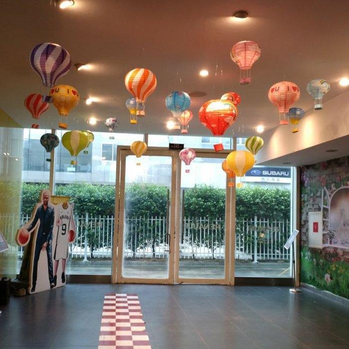 潮人街~ 兒童生日派對1周歲裝飾寶寶百天布置品滿月主題天花板熱氣球裝扮#派對裝飾#氣球#彩燈裝飾#生日裝飾