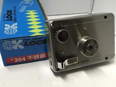 台灣製 高品質 OK牌 PAT 46042 #304不銹鋼 (分離/雙鎖頭)三段鎖 門鎖