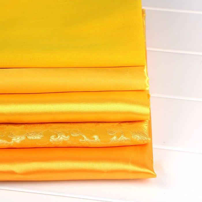 黃布佛布裝飾品供奉佛教供佛佛堂蓋佛像純棉金黃色金絲絨綢緞布料