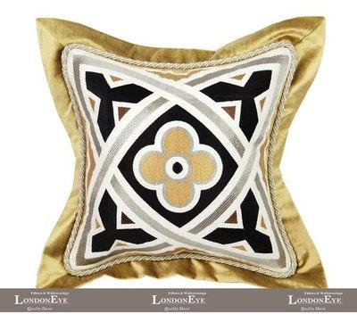 【 LondonEYE 】法夏系列-香家山茶花 現代法式X魅力低奢X合口包邊絲絨料 訂製抱枕套豪宅(芯)