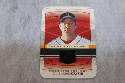 紅襪隊~Curt Schilling~2004 Flair Diamond Cuts 紅寶~限量18張切割球衣卡 SSP