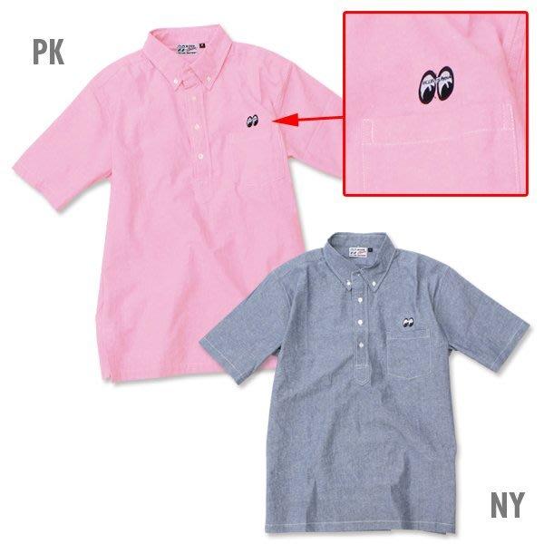 (I LOVE樂多) MOONEYES Classic Chambray Shirt 套式襯衫 刺繡logo短袖襯衫