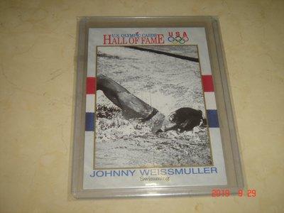 游泳運動員 美國隊 Johnny Weissmuller 1991 Impel 奧運美國隊 #8 球員卡