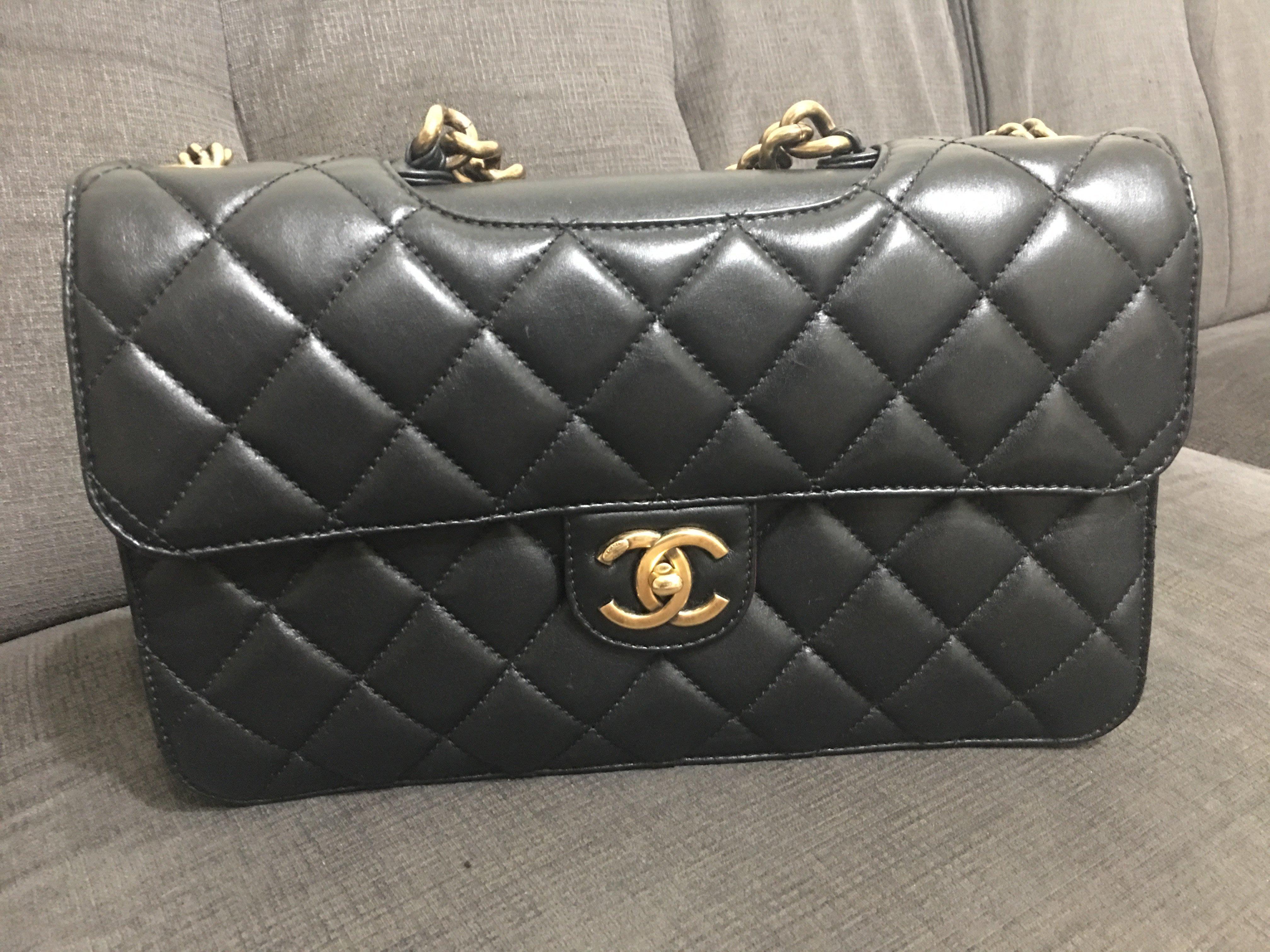 二手 Chanel 個性 孟買包 可肩背 手提 帥氣 大款
