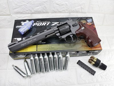 [01] WG 8吋 左輪 手槍 CO2直壓槍 + 12g CO2小鋼瓶 ( 左輪槍8吋SP 703直壓槍BB槍BB彈