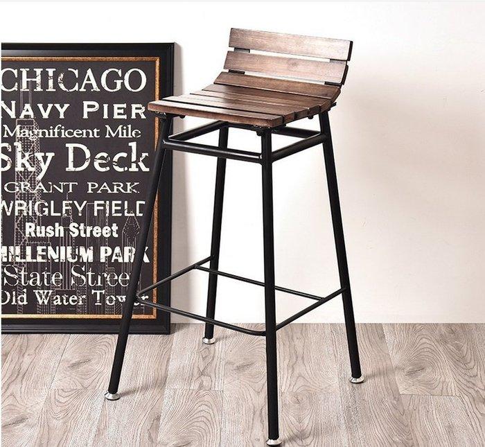 【南洋風休閒傢俱】吧台椅系列-LOFT實木吧檯椅 美式鄉村吧台椅 工業風復古吧台椅
