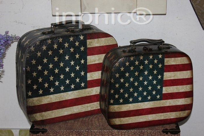 INPHIC-仿舊箱 手提箱 木箱 皮箱 旅行箱 2件套