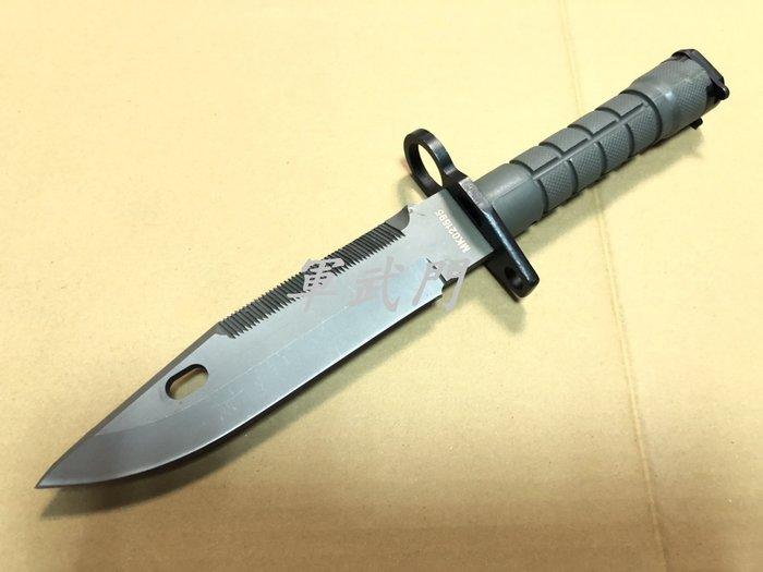 【軍武門】NG商品 M9刺刀(附磨刀石)軍用步槍M4/M16專用戰術格鬥刺刀/野外生存遊戲