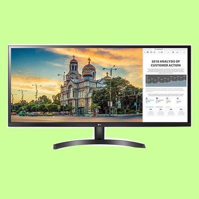 5Cgo【捷元】 LG 34WK500-P 34吋(亮黑) IPS液晶顯示器  可調整傾斜,支援壁掛  三年保固