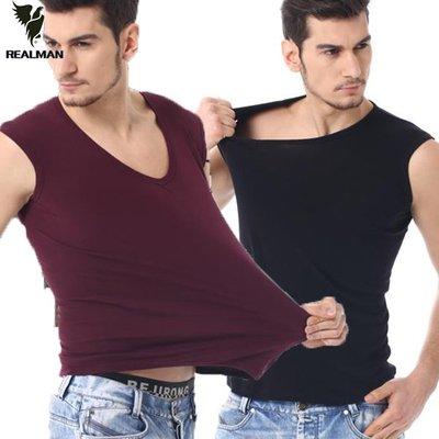 Realman男裝店 ~ 男士運動寬肩無袖背心緊身純色打底衫 ~t恤背心短袖長袖襯衫馬甲外套上衣