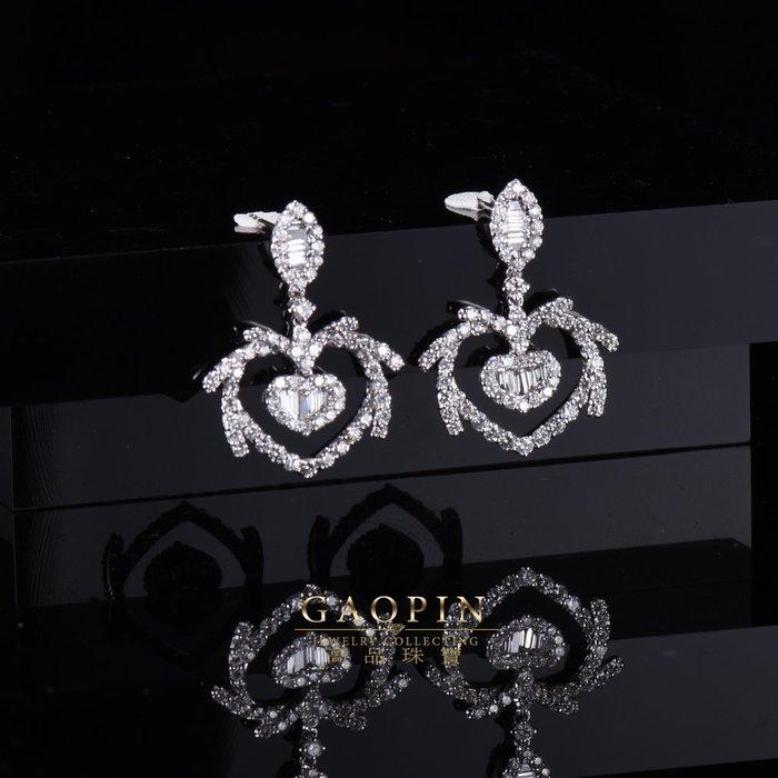 【高品珠寶】18K 設計款《璀璨》鑽石耳環 真金真鑽 情人節禮物 生日禮物 #3592