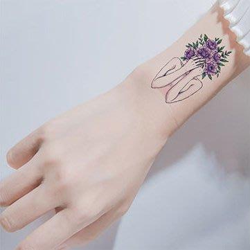 【萌古屋】紫花女孩 - 男女防水紋身貼紙刺青貼紙 RC-514