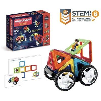 美國進口玩具MAGFORMERS® 驚汽組合16件WOW 16PC SET