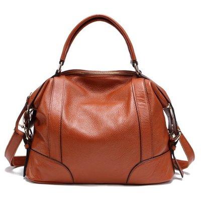 純牛皮真皮手提斜跨女包歐美時尚旅行休閒大包包