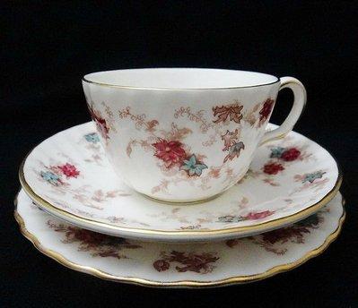 【timekeeper】  英國製Minton明頓Ancestral系列三件式手繪咖啡杯+盤(免運)