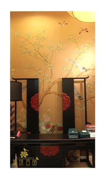 【芮洛蔓 La Romance】手繪絲綢壁紙 L16