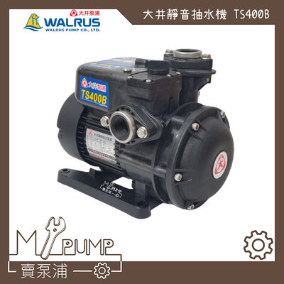 【MY.PUMP 賣泵浦】大井 Walrus TS400B 靜音式抽水機 1/2HP 抽水馬達 TS400 水機不生鏽