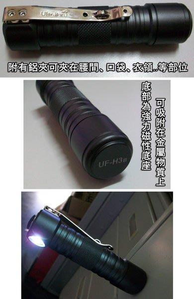 亮度最高 正廠 Ultra Fire UF-H3B /正美國CREE Q5 強力磁鐵工作燈.超強照明能力 夜釣軟絲 白帶